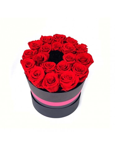 Box rose rosse e rosa nera...